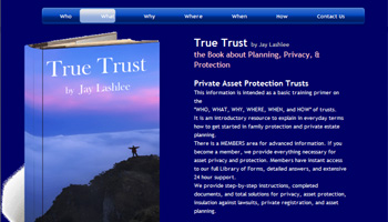 True Trust Book by Author Jay Lashlee website